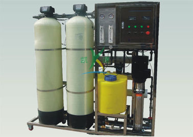 Brackish Water Reverse Osmosis Water Treatment System 1000LPH With FRP Tank